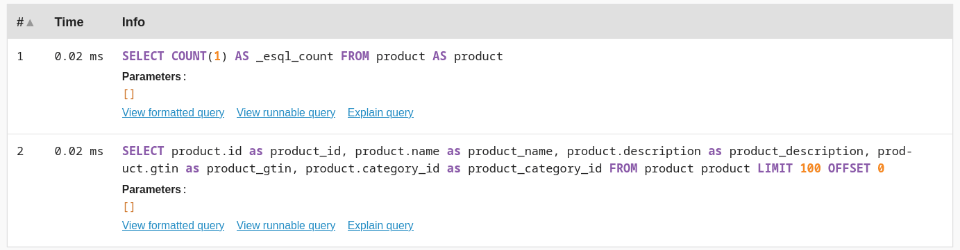 doctrine queries with esql